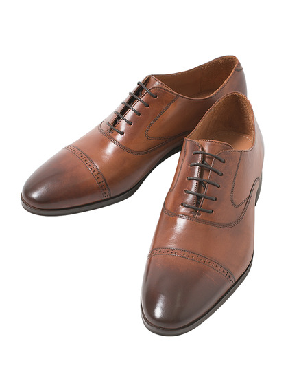 Inner Feather Straight Tip Shoes