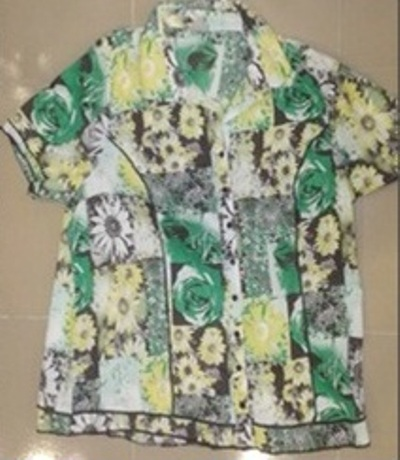 Ladies short sleeve printed shirt